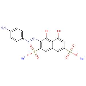 2,7-Naphthalenedisulfonic acid, 3-[(4-aminophenyl)azo]-4,5-dihydroxy-, disodium salt,CAS No. 1681-60-3.