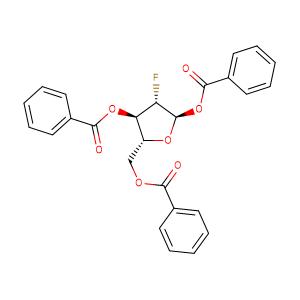 2-Deoxy-2-fluoro-1,3,5-tri-O-benzoyl-D-ribofuranose,CAS No. 97614-43-2.