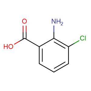 2-Amino-3-chloro-benzoic acid,CAS No. 6388-47-2.