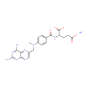Sodium methotrexate,CAS No. 7413-34-5.