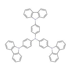 Tris(4-(9H-carbazol-9-yl)phenyl)amine,CAS No. 139092-78-7.