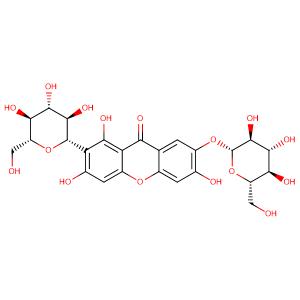 Neomangiferin,CAS No. 64809-67-2.