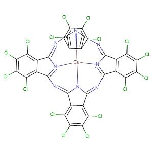 Copper, [1,2,3,4,8,9,10,11,15,16, 17,18,22,23,24,25-hexadecachloro-29H,31H-phthalocyaninato (2-)-N29,N30,N31,N32]-, (SP-4-1)-,CAS No. 14832-14-5.