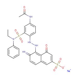 2-Naphthalenesulfonic acid, 5-[[4-(acetylamino)-2-[(ethylphenylamino) sulfonyl]phenyl]azo]-6-amino-4-hydroxy -, monosodium salt,CAS No. 6360-10-7.