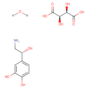 Noradrenaline bitartrate monohydrate,CAS No. 69815-49-2.