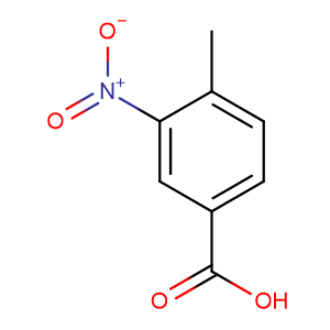 4-Methyl-3-nitrobenzoic acid,CAS No. 96-98-0.