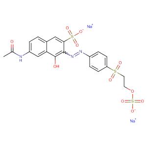 2-Naphthalenesulfonic acid, 6-(acetylamino)-4-hydroxy- 3-[[3-[[2-(sulfooxy)ethyl]sulfonyl]phenyl]azo]-, disodium salt,CAS No. 12225-83-1.