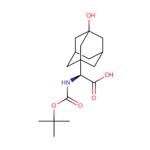 BOC-3-Hydroxy-1-adamantyl-D-Glycine,CAS No. 361442-00-4.