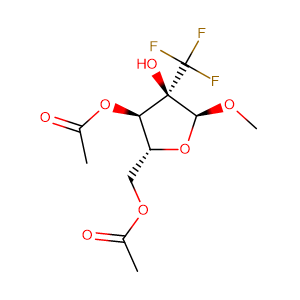 Methyl-2-C-(trifluoromethyl)-alpha-D-ribofuranoside-3,5-diacetate,CAS No. 159944-99-7.