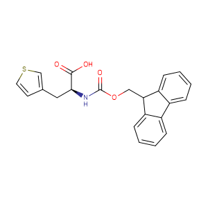 (S)-2-((((9H-Fluoren-9-yl)methoxy)carbonyl)amino)-3-(thiophen-3-yl)propanoic acid,CAS No. 186320-06-9.