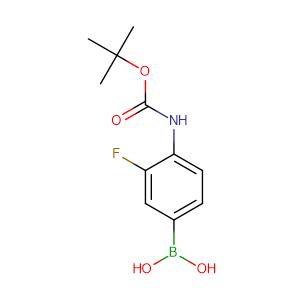 4-(tert-butoxycarbonylamino)-3-fluorophenylboronic acid,CAS No. 218301-87-2.