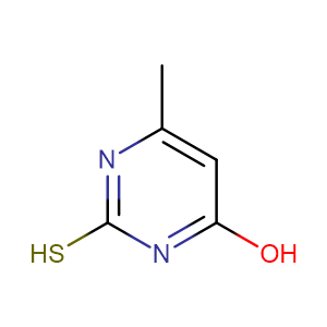 6-Methyl-2-thiouracil,CAS No. 56-04-2.