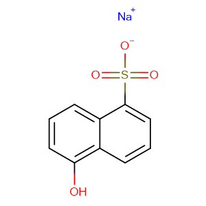 Sodium 5-hydroxynaphthalene-1-sulphonate,CAS No. 5419-77-2.