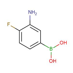 3-Amino-4-fluorophenylboronic acid,CAS No. 873566-75-7.