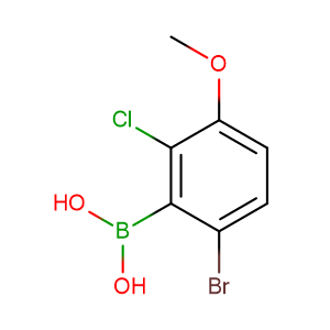 (6-Bromo-2-chloro-3-methoxyphenyl)boronic acid,CAS No. 957062-55-4.