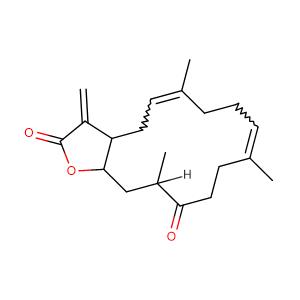 6,10,14-trimethyl-3-methylidene-2H,3H,3aH,4H,7H,8H,11H,12H,13H,14H,15H,15aH-cyclotetradeca[b]furan-2,13-dione,CAS No. 55226-27-2.