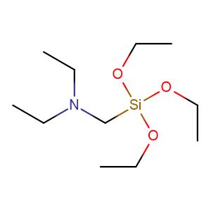 Diethyl amino methyl triethoxy silane,CAS No. 15180-47-9.