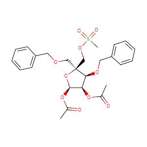 4-(Methanesulfonyloxymethyl)-1,2-O-diacetoxy-3,5-O-dibenzyl-alpha-D-erythro-pentofuranose,CAS No. 221229-65-8.