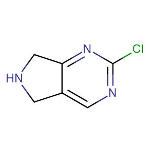 2-Chloro-6,7-dihydro-5H-pyrrolo[3,4-d]pyrimidine,CAS No. 954232-71-4.