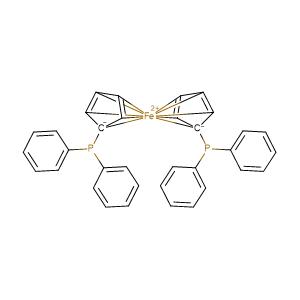 1,1'-Bis(diphenylphosphino)ferrocene,CAS No. 12150-46-8.