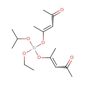 Bis(acetylactonate) ethoxide isopropoxide titanium,CAS No. 445398-76-5.