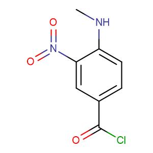 3-nitro-4-methylamino-benzoylchloride,CAS No. 82357-48-0.
