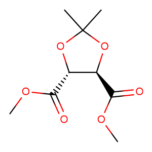 (-)-Dimethyl-2,3-O-isopropylidene-L-tartrate,CAS No. 37031-29-1.