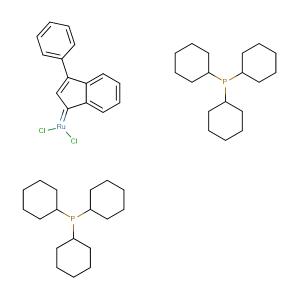Bis(tricyclohexylphosphine)-3-phenyl-1H-inden-1-ylideneruthenium(IV) dichloride,CAS No. 250220-36-1.