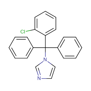 Clotrimazole,CAS No. 23593-75-1.