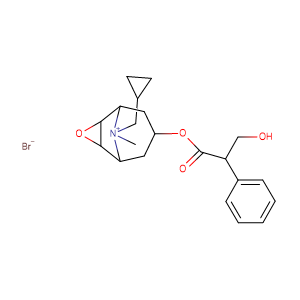 Scopolamin-N-(cyclopropyl-methyl)-bromid,CAS No. 51598-60-8.
