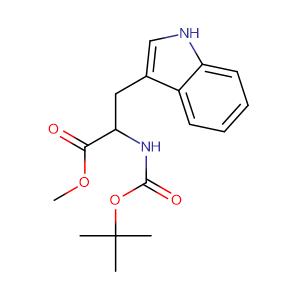 methyl 2-{[(tert-butoxy)carbonyl]amino}-3-(1H-indol-3-yl)propanoate,CAS No. 33900-28-6.