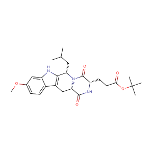 (3S,6S,12aS)-1,2,3,4,6,7,12,12a-Octahydro-9-methoxy-6-(2-methylpropyl)-1,4-dioxopyrazino[1',2':1,6]pyrido[3,4-b]indole-3-propanoic acid 1,1-dimethylethyl ester,CAS No. 461054-93-3.