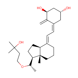 (1R,3S,5Z)-4-methylene-5-[(2E)-2-[(1S,3aS,7aS)-octahydro-1-[(1S)-1-(3-hydroxy-3-methylbutoxy)ethyl]-7a-methyl-4H-inden-4-ylidene]ethylidene]-1,3-Cyclohexanediol,CAS No. 103909-75-7.