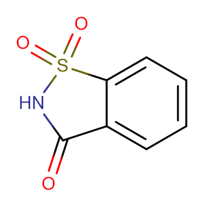 Benzo[d]isothiazol-3(2H)-one 1,1-dioxide,CAS No. 81-07-2.