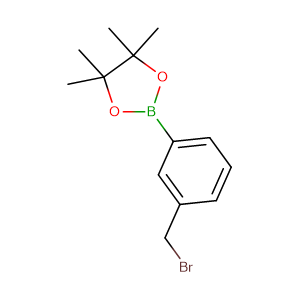 2-(3-(bromomethyl)phenyl)-4,4,5,5,-tetramethyl-1,3,2-dioxaborolane,CAS No. 214360-74-4.