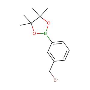 2-(3-(bromomethyl)phenyl)-4,4,5,5,-tetramethyl-1,3,2-dioxaborolane,CAS No. 214360-74-4.