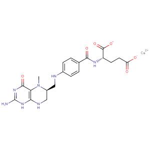 Calcium (S)-2-(4-((((S)-2-amino-5-methyl-4-oxo-3,4,5,6,7,8-hexahydropteridin-6-yl)methyl)amino)benzamido)-4-carboxybutanoate,CAS No. 151533-22-1.