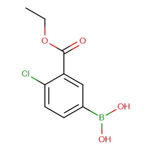 (4-Chloro-3-(ethoxycarbonyl)phenyl)boronic acid,CAS No. 874219-46-2.