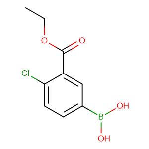 (4-Chloro-3-(ethoxycarbonyl)phenyl)boronic acid,CAS No. 874219-46-2.