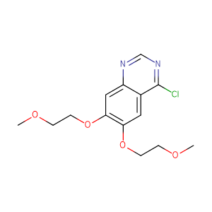 4-Chloro-6,7-bis(2-methoxyethoxy)quinazoline,CAS No. 183322-18-1.