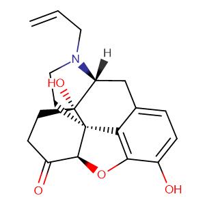 Naloxone,CAS No. 465-65-6.