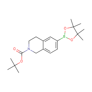 tert-Butyl 6-(4,4,5,5-tetramethyl-1,3,2-dioxaborolan-2-yl)-3,4-dihydroisoquinoline-2(1H)-carboxylate,CAS No. 893566-72-8.
