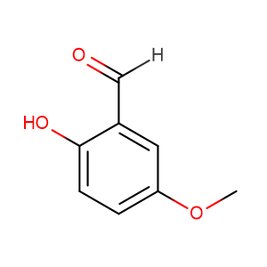 2-Hydroxy-5-methoxybenzaldehyde,CAS No. 672-13-9.