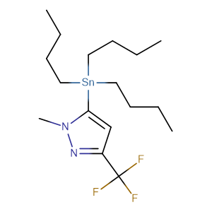 1-Methyl-5-(tributylstannyl)-3-(trifluoromethyl)-1H-pyrazole,CAS No. 191606-78-7.
