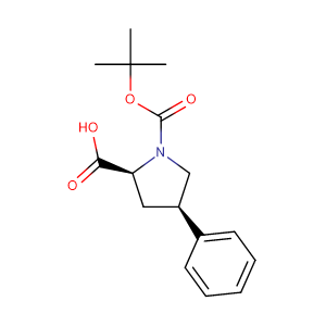 (2S,4R)-Boc-4-phenylpyrrolidine-2-carboxylic acid,CAS No. 336818-78-1.