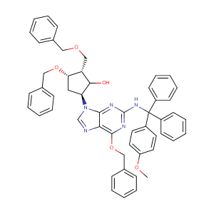 (1S,2S,3S,5S)-3-(Benzyloxy)-5-(6-(benzyloxy)-2-(((4-methoxyphenyl)diphenylmethyl)amino)-9H-purin-9-yl)-2-((benzyloxy)methyl)cyclopentanol,CAS No. 142217-78-5.