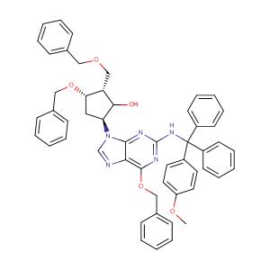 (1S,2S,3S,5S)-3-(Benzyloxy)-5-(6-(benzyloxy)-2-(((4-methoxyphenyl)diphenylmethyl)amino)-9H-purin-9-yl)-2-((benzyloxy)methyl)cyclopentanol,CAS No. 142217-78-5.