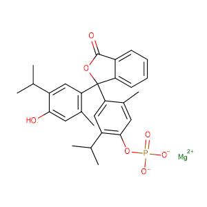 Thymolphthalein monophosphate magnesium salt,CAS No. 35106-21-9.