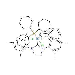 Benzylidene[1,3-bis(2,4,6-trimethylphenyl)-2-imidazolidinylidene] dichloro(tricyclohexyl-phosphine) ruthenium,CAS No. 246047-72-3.