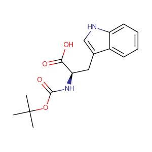 N-BOC-D-tryptophan,CAS No. 5241-64-5.